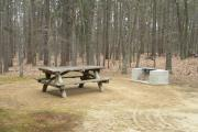 Campground Cottage Picnic and Fire Pit Area